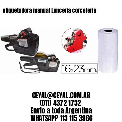 etiquetadora manual Lenceria corceteria