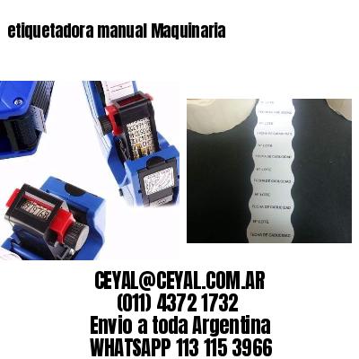 etiquetadora manual Maquinaria