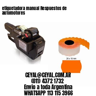 etiquetadora manual Respuestos de automotores