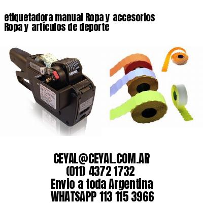 etiquetadora manual Ropa y accesorios Ropa y artículos de deporte