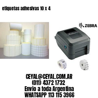 etiquetas adhesivas 10 x 4