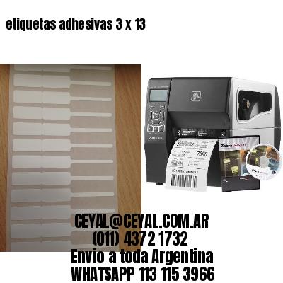 etiquetas adhesivas 3 x 13