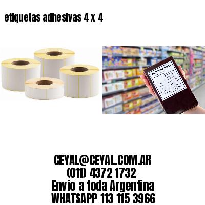 etiquetas adhesivas 4 x 4