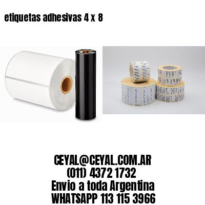 etiquetas adhesivas 4 x 8