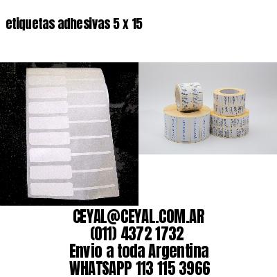 etiquetas adhesivas 5 x 15