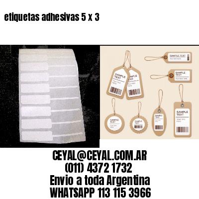 etiquetas adhesivas 5 x 3