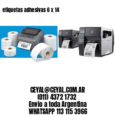 etiquetas adhesivas 6 x 14