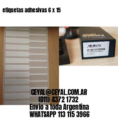 etiquetas adhesivas 6 x 15