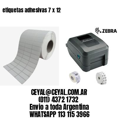 etiquetas adhesivas 7 x 12