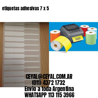 etiquetas adhesivas 7 x 5