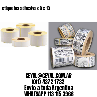 etiquetas adhesivas 9 x 13