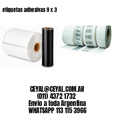 etiquetas adhesivas 9 x 3