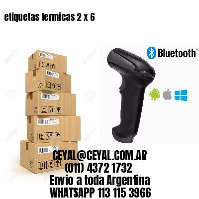 etiquetas termicas 2 x 6