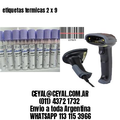 etiquetas termicas 2 x 9