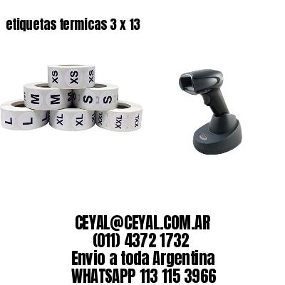 etiquetas termicas 3 x 13