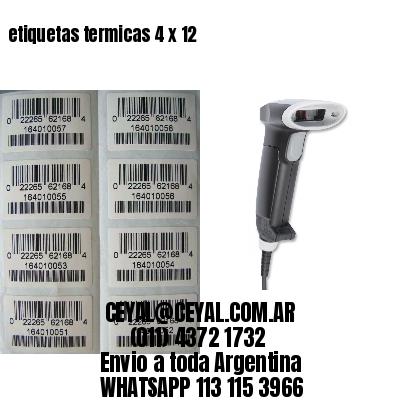 etiquetas termicas 4 x 12