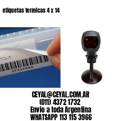 etiquetas termicas 4 x 14