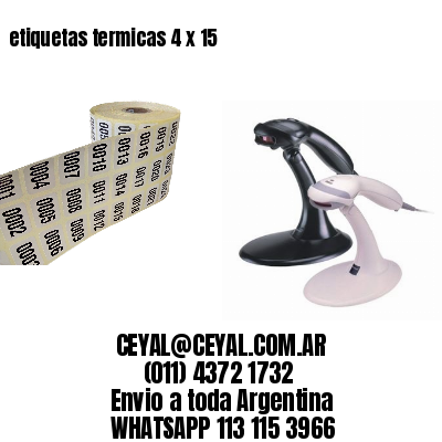 etiquetas termicas 4 x 15