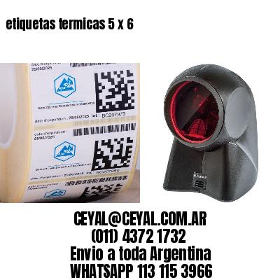 etiquetas termicas 5 x 6