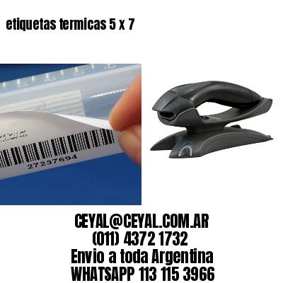 etiquetas termicas 5 x 7