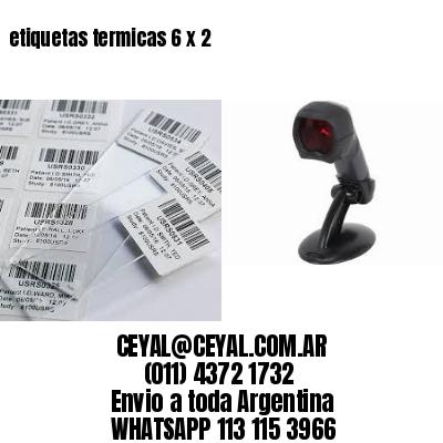 etiquetas termicas 6 x 2