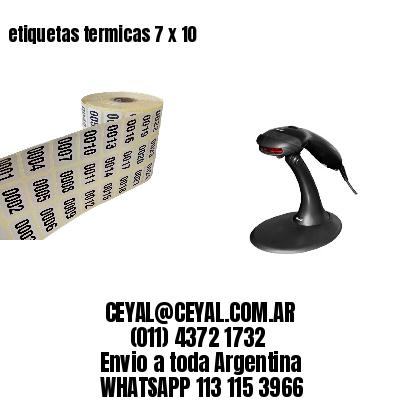 etiquetas termicas 7 x 10