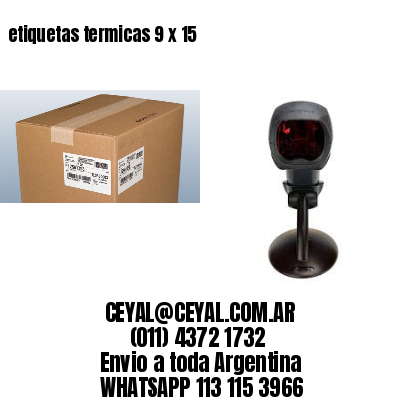 etiquetas termicas 9 x 15