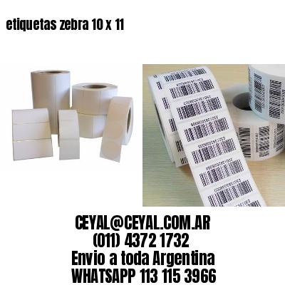 etiquetas zebra 10 x 11