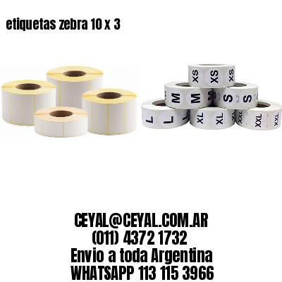 etiquetas zebra 10 x 3