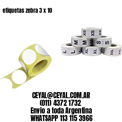 etiquetas zebra 3 x 10