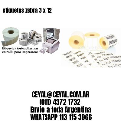 etiquetas zebra 3 x 12