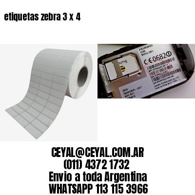 etiquetas zebra 3 x 4