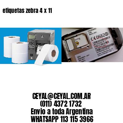 etiquetas zebra 4 x 11