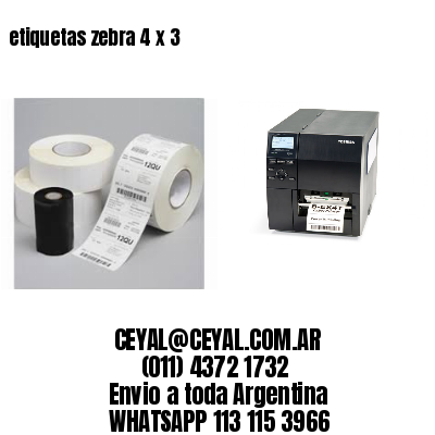 etiquetas zebra 4 x 3