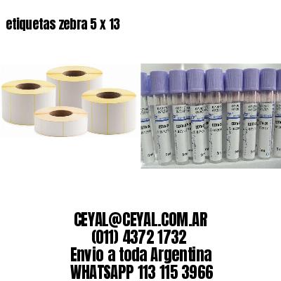 etiquetas zebra 5 x 13