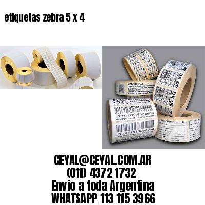etiquetas zebra 5 x 4