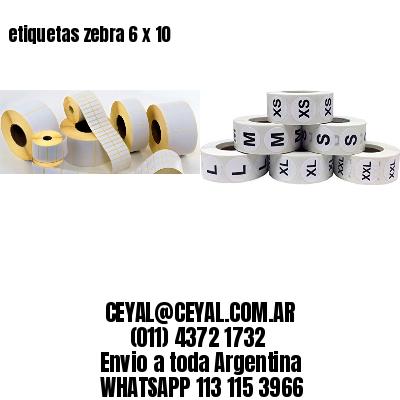 etiquetas zebra 6 x 10