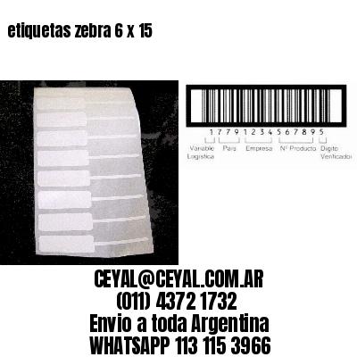 etiquetas zebra 6 x 15