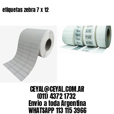 etiquetas zebra 7 x 12