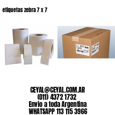 etiquetas zebra 7 x 7