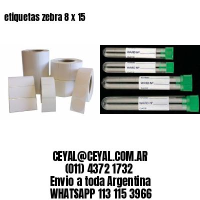etiquetas zebra 8 x 15