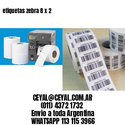 etiquetas zebra 8 x 2