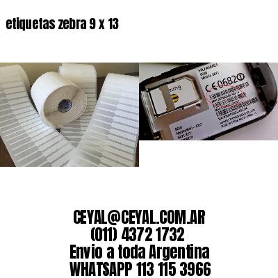 etiquetas zebra 9 x 13