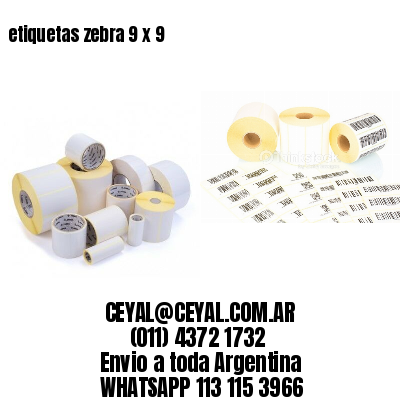 etiquetas zebra 9 x 9