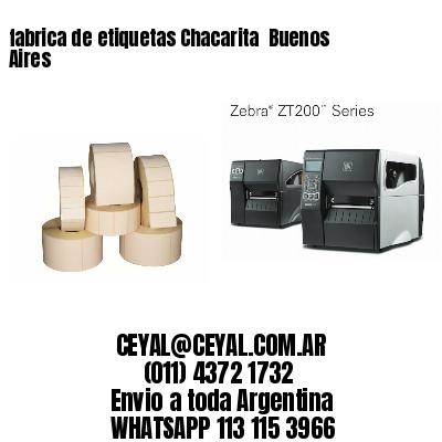 fabrica de etiquetas Chacarita  Buenos Aires