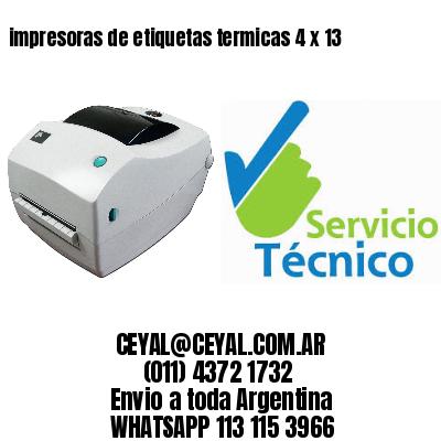 impresoras de etiquetas termicas 4 x 13