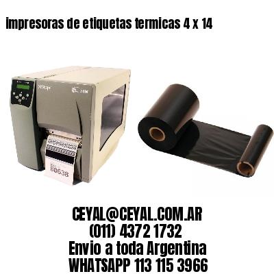 impresoras de etiquetas termicas 4 x 14