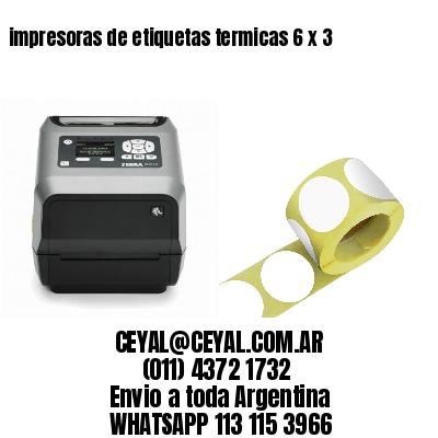impresoras de etiquetas termicas 6 x 3