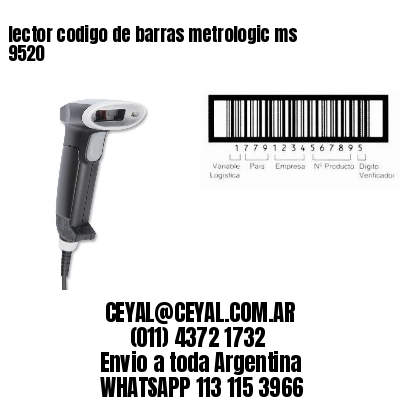 lector codigo de barras metrologic ms 9520