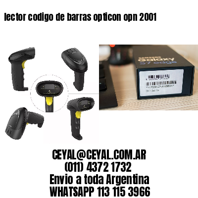 lector codigo de barras opticon opn 2001